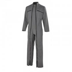 Combinaison 2 Fermetures Coton/Polyester Gris