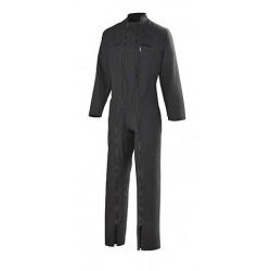 Combinaison 2 Fermetures Coton/Polyester Noir