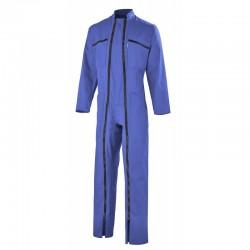 Combinaison 2 Fermetures Polyester/Coton Bleu