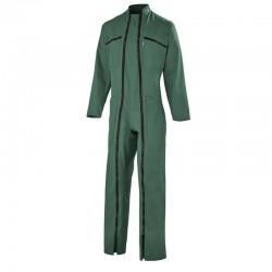 Combinaison 2 Fermetures Polyester/Coton Vert