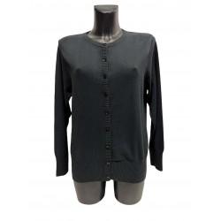 Cardigan Coton Viscose Noir
