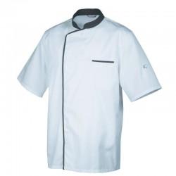 Veste de cuisine Blanc avec liseré Gris