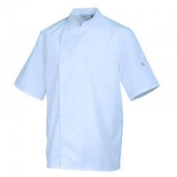 Veste de cuisine Blanc avec liseré Blanc